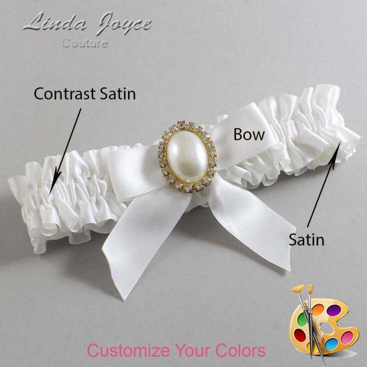 Couture Garters / Custom Wedding Garter / Customizable Wedding Garters / Personalized Wedding Garters / Missy #01-B02-M29 / Wedding Garters / Bridal Garter / Prom Garter / Linda Joyce Couture