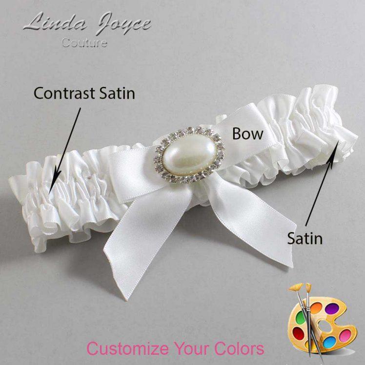 Couture Garters / Custom Wedding Garter / Customizable Wedding Garters / Personalized Wedding Garters / Niki #01-B02-M30 / Wedding Garters / Bridal Garter / Prom Garter / Linda Joyce Couture