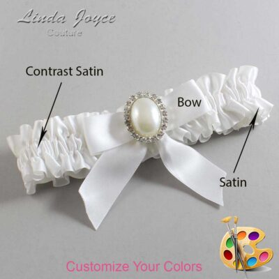 Couture Garters / Custom Wedding Garter / Customizable Wedding Garters / Personalized Wedding Garters / Missy #01-B02-M31 / Wedding Garters / Bridal Garter / Prom Garter / Linda Joyce Couture