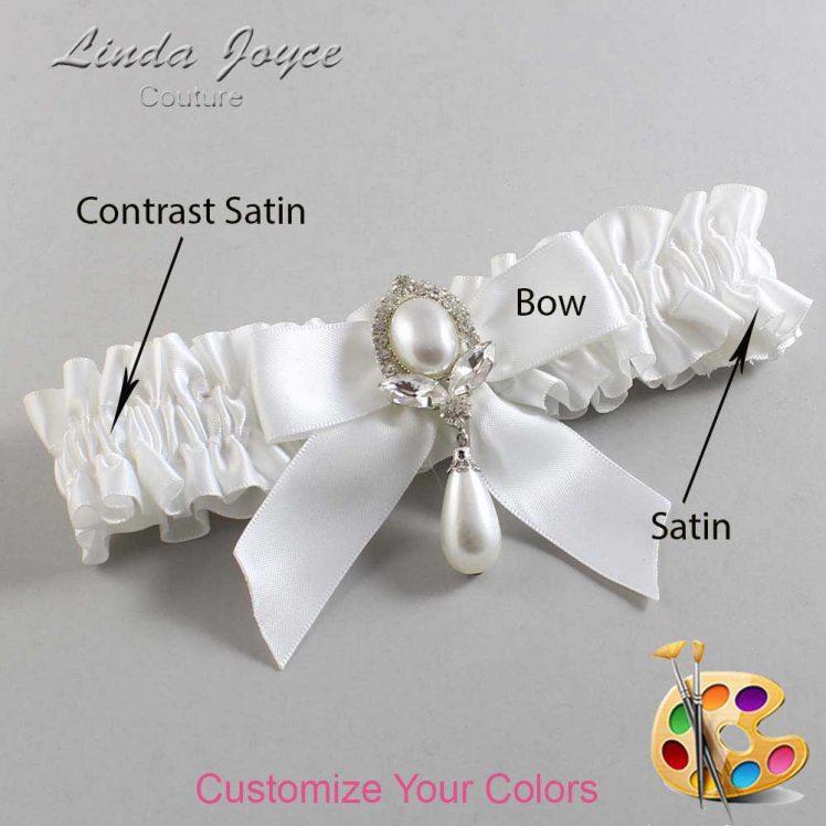 Couture Garters / Custom Wedding Garter / Customizable Wedding Garters / Personalized Wedding Garters / Tessa #01-B02-M32 / Wedding Garters / Bridal Garter / Prom Garter / Linda Joyce Couture