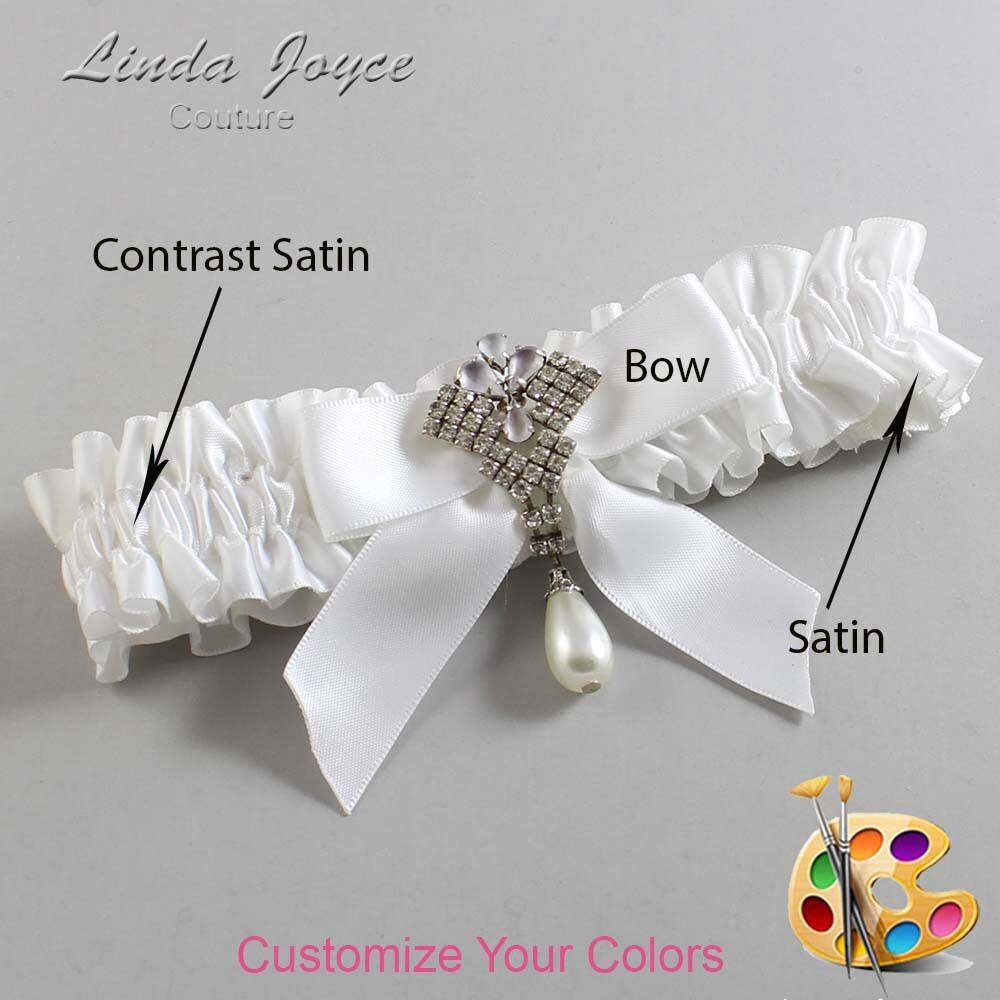 Customizable Wedding Garter / Vera #01-B02-M33