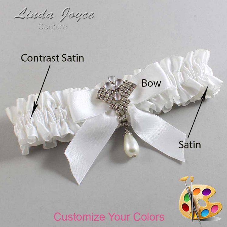 Couture Garters / Custom Wedding Garter / Customizable Wedding Garters / Personalized Wedding Garters / Vera #01-B02-M33 / Wedding Garters / Bridal Garter / Prom Garter / Linda Joyce Couture