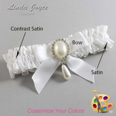 Couture Garters / Custom Wedding Garter / Customizable Wedding Garters / Personalized Wedding Garters / Trina #01-B02-M35 / Wedding Garters / Bridal Garter / Prom Garter / Linda Joyce Couture
