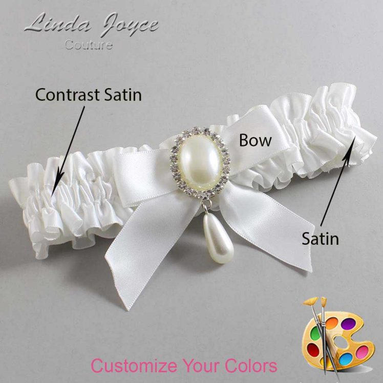 Couture Garters / Custom Wedding Garter / Customizable Wedding Garters / Personalized Wedding Garters / Trina #01-B02-M35 / Wedding Garters / Bridal Garter / Prom Garter / Linda Joyce Couture