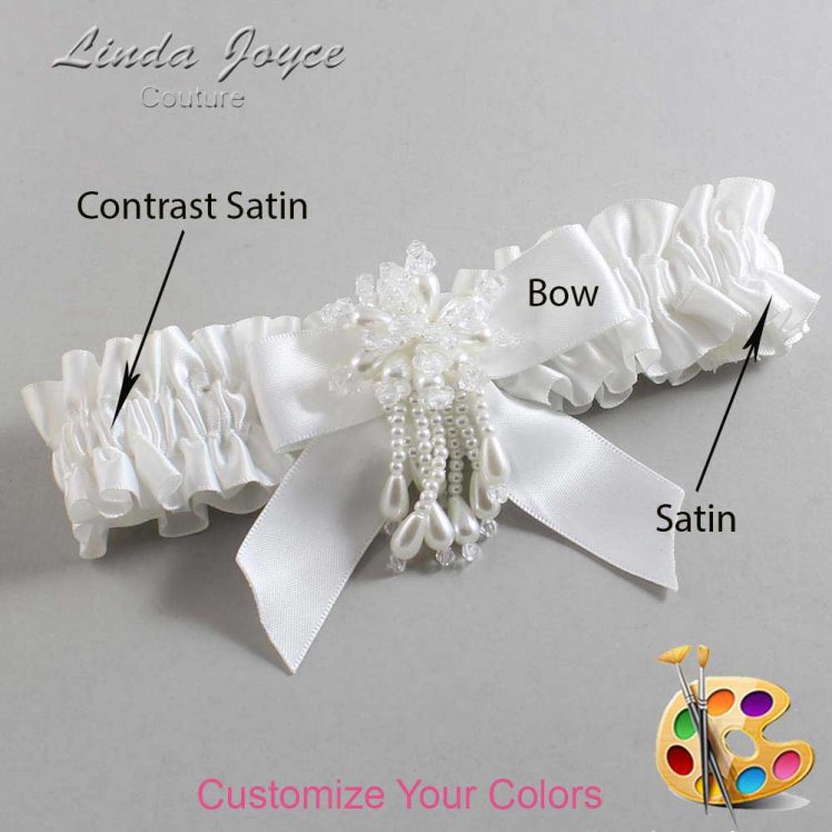 Couture Garters / Custom Wedding Garter / Customizable Wedding Garters / Personalized Wedding Garters / Merlene #01-B02-M38 / Wedding Garters / Bridal Garter / Prom Garter / Linda Joyce Couture