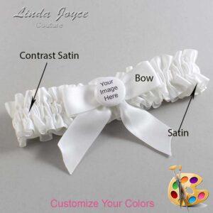 Couture Garters / Custom Wedding Garter / Customizable Wedding Garters / Personalized Wedding Garters / Custom Button #01-B02-M44 / Wedding Garters / Bridal Garter / Prom Garter / Linda Joyce Couture
