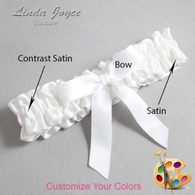 Customizable Wedding Garter / Paulette #01-B03-00