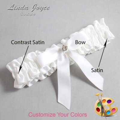 Couture Garters / Custom Wedding Garter / Customizable Wedding Garters / Personalized Wedding Garters / Jana #01-B03-M03 / Wedding Garters / Bridal Garter / Prom Garter / Linda Joyce Couture