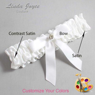 Couture Garters / Custom Wedding Garter / Customizable Wedding Garters / Personalized Wedding Garters / Jana #01-B03-M04 / Wedding Garters / Bridal Garter / Prom Garter / Linda Joyce Couture