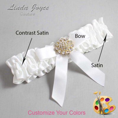 Couture Garters / Custom Wedding Garter / Customizable Wedding Garters / Personalized Wedding Garters / Samantha #01-B03-M12 / Wedding Garters / Bridal Garter / Prom Garter / Linda Joyce Couture