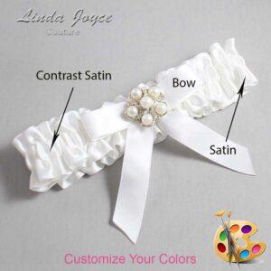 Couture Garters / Custom Wedding Garter / Customizable Wedding Garters / Personalized Wedding Garters / Natalie #01-B03-M13 / Wedding Garters / Bridal Garter / Prom Garter / Linda Joyce Couture