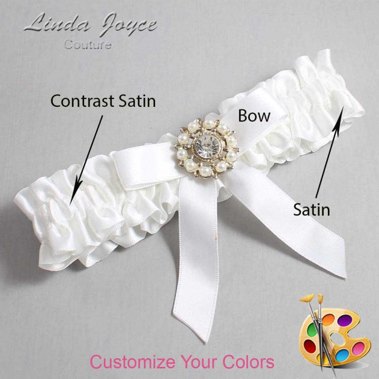 Couture Garters / Custom Wedding Garter / Customizable Wedding Garters / Personalized Wedding Garters / Caroline #01-B03-M14 / Wedding Garters / Bridal Garter / Prom Garter / Linda Joyce Couture