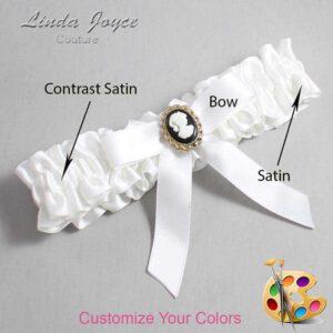 Couture Garters / Custom Wedding Garter / Customizable Wedding Garters / Personalized Wedding Garters / Dinah #01-B03-M15 / Wedding Garters / Bridal Garter / Prom Garter / Linda Joyce Couture