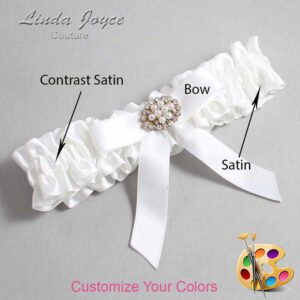 Couture Garters / Custom Wedding Garter / Customizable Wedding Garters / Personalized Wedding Garters / Daryl #01-B03-M16 / Wedding Garters / Bridal Garter / Prom Garter / Linda Joyce Couture