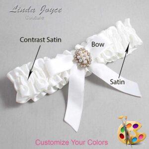 Couture Garters / Custom Wedding Garter / Customizable Wedding Garters / Personalized Wedding Garters / Jenny #01-B03-M17 / Wedding Garters / Bridal Garter / Prom Garter / Linda Joyce Couture