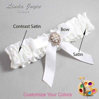 Couture Garters / Custom Wedding Garter / Customizable Wedding Garters / Personalized Wedding Garters / Jenny #01-B03-M17 / Wedding Garters / Bridal Garter / Prom Garter / Linda Joyce Couture