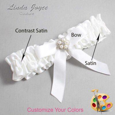 Couture Garters / Custom Wedding Garter / Customizable Wedding Garters / Personalized Wedding Garters / Amelia #01-B03-M20 / Wedding Garters / Bridal Garter / Prom Garter / Linda Joyce Couture