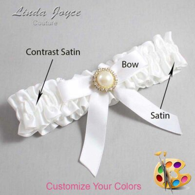 Couture Garters / Custom Wedding Garter / Customizable Wedding Garters / Personalized Wedding Garters / Doreen #01-B03-M21 / Wedding Garters / Bridal Garter / Prom Garter / Linda Joyce Couture