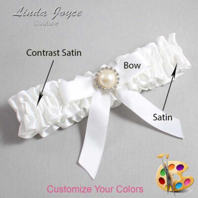 Couture Garters / Custom Wedding Garter / Customizable Wedding Garters / Personalized Wedding Garters / Doreen #01-B03-M22 / Wedding Garters / Bridal Garter / Prom Garter / Linda Joyce Couture