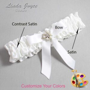 Couture Garters / Custom Wedding Garter / Customizable Wedding Garters / Personalized Wedding Garters / Kayla #01-B03-M23 / Wedding Garters / Bridal Garter / Prom Garter / Linda Joyce Couture