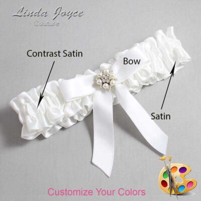 Couture Garters / Custom Wedding Garter / Customizable Wedding Garters / Personalized Wedding Garters / Kayla #01-B03-M23 / Wedding Garters / Bridal Garter / Prom Garter / Linda Joyce Couture