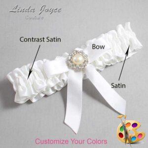 Couture Garters / Custom Wedding Garter / Customizable Wedding Garters / Personalized Wedding Garters / Katherine #01-B03-M24 / Wedding Garters / Bridal Garter / Prom Garter / Linda Joyce Couture