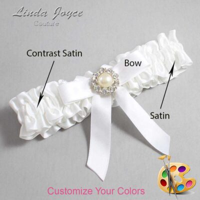 Customizable Wedding Garter / Katherine #01-B03-M24