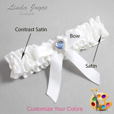 Couture Garters / Custom Wedding Garter / Customizable Wedding Garters / Personalized Wedding Garters / Gina #01-B03-M25 / Wedding Garters / Bridal Garter / Prom Garter / Linda Joyce Couture