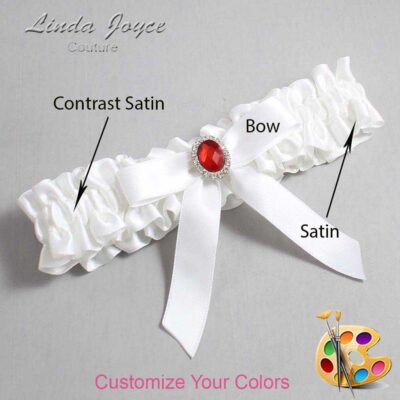 Customizable Wedding Garter / Fran #01-B03-M26