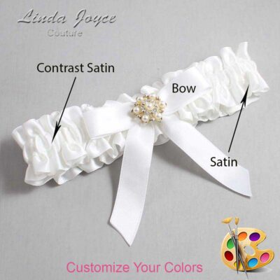 Couture Garters / Custom Wedding Garter / Customizable Wedding Garters / Personalized Wedding Garters / Carolee #01-B03-M27 / Wedding Garters / Bridal Garter / Prom Garter / Linda Joyce Couture