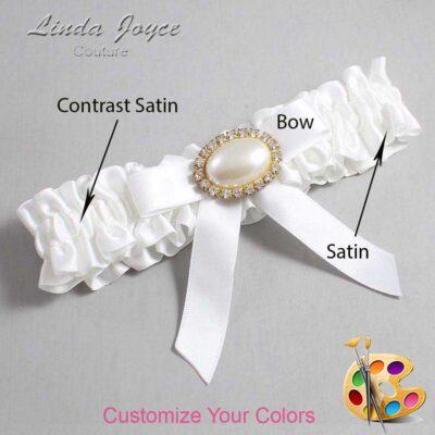 Couture Garters / Custom Wedding Garter / Customizable Wedding Garters / Personalized Wedding Garters / Eva #01-B03-M28 / Wedding Garters / Bridal Garter / Prom Garter / Linda Joyce Couture