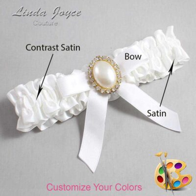 Couture Garters / Custom Wedding Garter / Customizable Wedding Garters / Personalized Wedding Garters / Harmony #01-B03-M29 / Wedding Garters / Bridal Garter / Prom Garter / Linda Joyce Couture