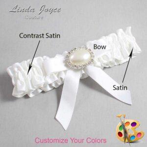 Couture Garters / Custom Wedding Garter / Customizable Wedding Garters / Personalized Wedding Garters / Eva #01-B03-M30 / Wedding Garters / Bridal Garter / Prom Garter / Linda Joyce Couture