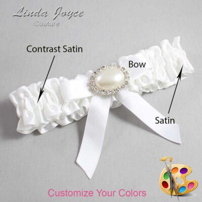 Couture Garters / Custom Wedding Garter / Customizable Wedding Garters / Personalized Wedding Garters / Eva #01-B03-M30 / Wedding Garters / Bridal Garter / Prom Garter / Linda Joyce Couture