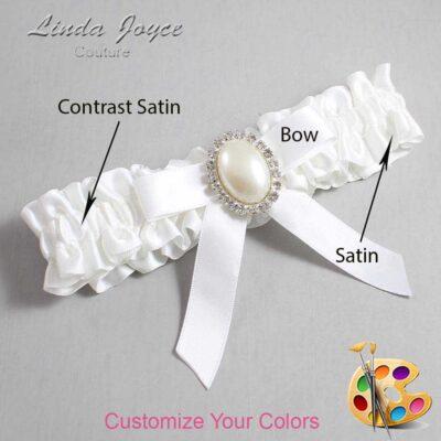 Couture Garters / Custom Wedding Garter / Customizable Wedding Garters / Personalized Wedding Garters / Harmony #01-B03-M31 / Wedding Garters / Bridal Garter / Prom Garter / Linda Joyce Couture