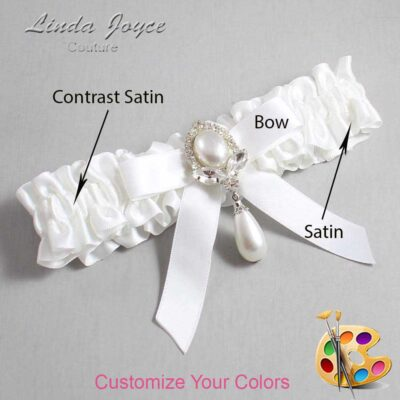 Couture Garters / Custom Wedding Garter / Customizable Wedding Garters / Personalized Wedding Garters / Bethany #01-B03-M32 / Wedding Garters / Bridal Garter / Prom Garter / Linda Joyce Couture