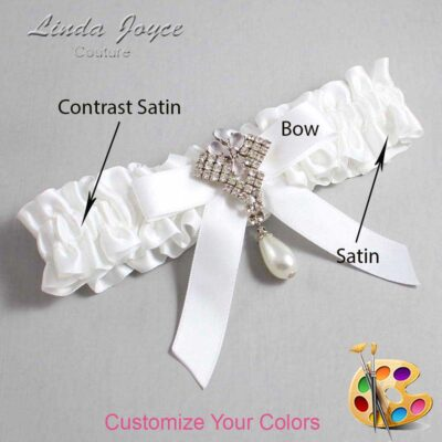 Customizable Wedding Garter / Bridget #01-B03-M33