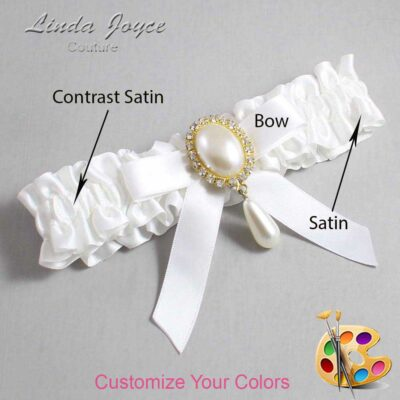 Couture Garters / Custom Wedding Garter / Customizable Wedding Garters / Personalized Wedding Garters / Demi #01-B03-M34 / Wedding Garters / Bridal Garter / Prom Garter / Linda Joyce Couture
