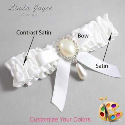Couture Garters / Custom Wedding Garter / Customizable Wedding Garters / Personalized Wedding Garters / Demi #01-B03-M35 / Wedding Garters / Bridal Garter / Prom Garter / Linda Joyce Couture