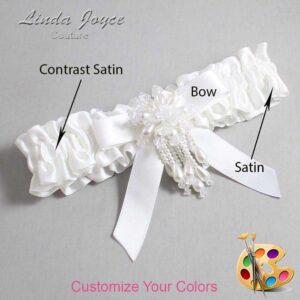 Couture Garters / Custom Wedding Garter / Customizable Wedding Garters / Personalized Wedding Garters / Kiley #01-B03-M38 / Wedding Garters / Bridal Garter / Prom Garter / Linda Joyce Couture
