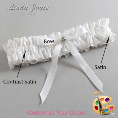 Couture Garters / Custom Wedding Garter / Customizable Wedding Garters / Personalized Wedding Garters / Bridie #01-B04-M03 / Wedding Garters / Bridal Garter / Prom Garter / Linda Joyce Couture
