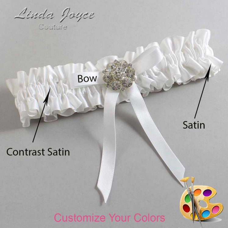 Couture Garters / Custom Wedding Garter / Customizable Wedding Garters / Personalized Wedding Garters / Buffy #01-B04-M11 / Wedding Garters / Bridal Garter / Prom Garter / Linda Joyce Couture