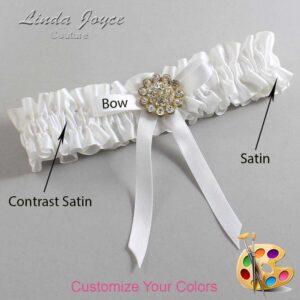 Couture Garters / Custom Wedding Garter / Customizable Wedding Garters / Personalized Wedding Garters / Candi #01-B04-M12 / Wedding Garters / Bridal Garter / Prom Garter / Linda Joyce Couture