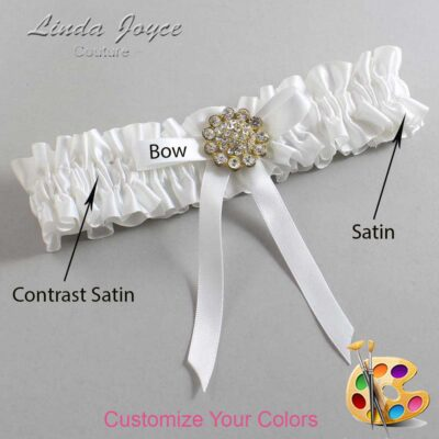 Couture Garters / Custom Wedding Garter / Customizable Wedding Garters / Personalized Wedding Garters / Candi #01-B04-M12 / Wedding Garters / Bridal Garter / Prom Garter / Linda Joyce Couture