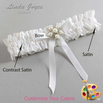Couture Garters / Custom Wedding Garter / Customizable Wedding Garters / Personalized Wedding Garters / Carmen #01-B04-M13 / Wedding Garters / Bridal Garter / Prom Garter / Linda Joyce Couture