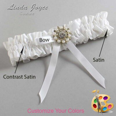 Couture Garters / Custom Wedding Garter / Customizable Wedding Garters / Personalized Wedding Garters / Chandra #01-B04-M14 / Wedding Garters / Bridal Garter / Prom Garter / Linda Joyce Couture