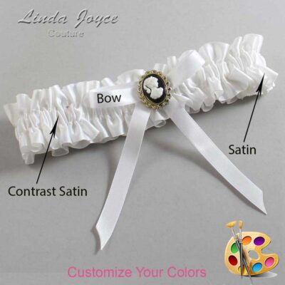 Couture Garters / Custom Wedding Garter / Customizable Wedding Garters / Personalized Wedding Garters / Chloe #01-B04-M15 / Wedding Garters / Bridal Garter / Prom Garter / Linda Joyce Couture