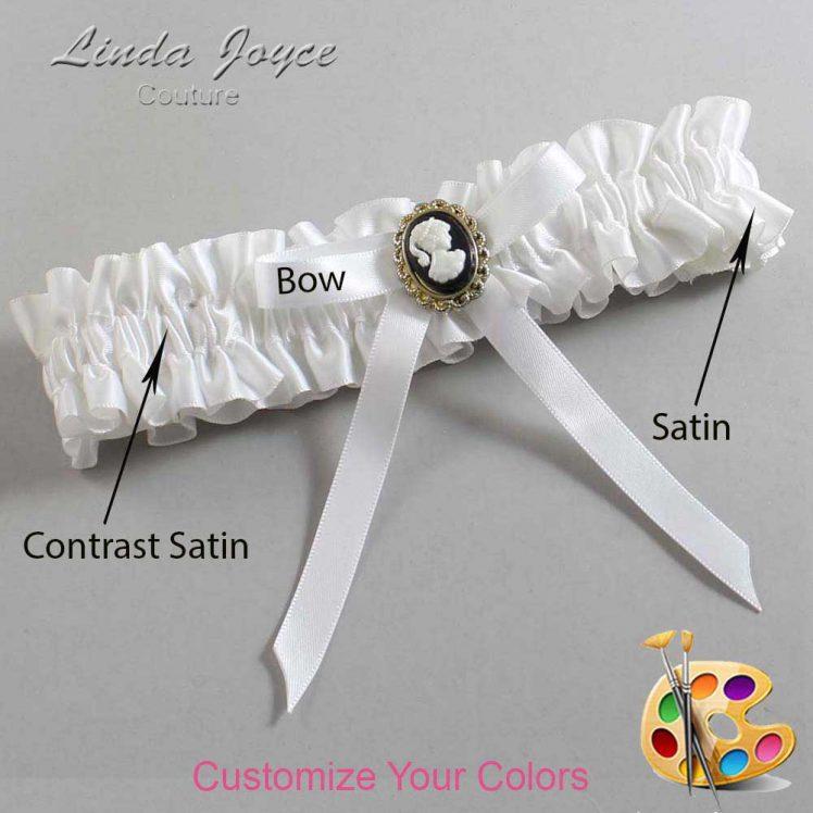 Couture Garters / Custom Wedding Garter / Customizable Wedding Garters / Personalized Wedding Garters / Chloe #01-B04-M15 / Wedding Garters / Bridal Garter / Prom Garter / Linda Joyce Couture
