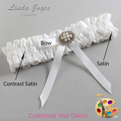 Customizable Wedding Garter / Christal #01-B04-M16