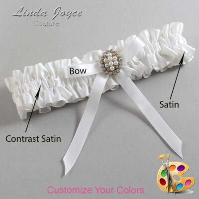 Couture Garters / Custom Wedding Garter / Customizable Wedding Garters / Personalized Wedding Garters / Christy #01-B04-M17 / Wedding Garters / Bridal Garter / Prom Garter / Linda Joyce Couture